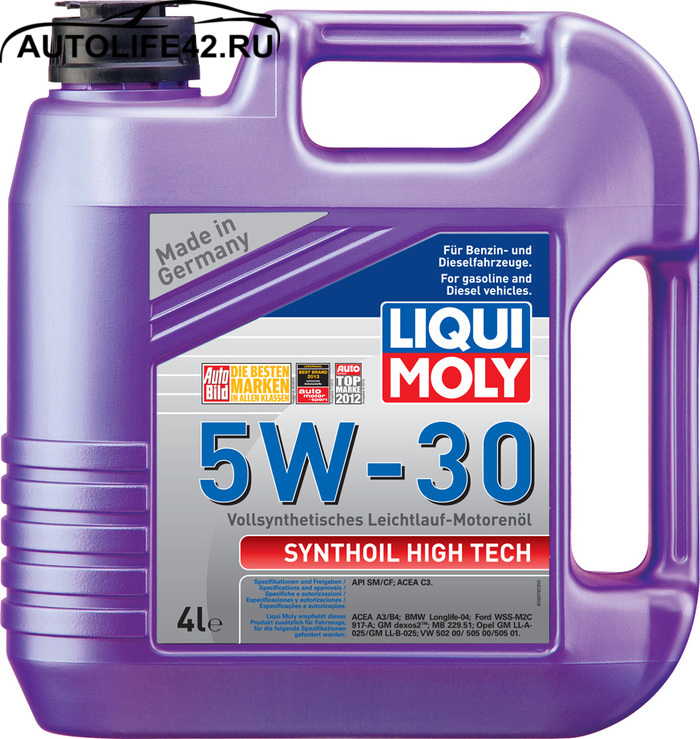 Моторное масло LIQUI MOLY Synthoil High Tech 5W-30 9076 4л